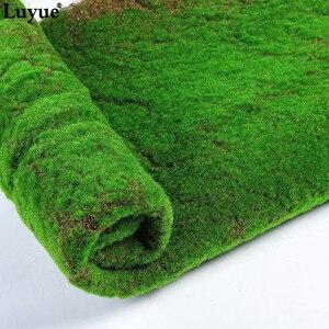 Image 4 - Luyue 1M * 1M Platz Künstliche Anlage Rasen Home Simulation Anlage Hintergrund Wand Moos Rasen Grün Sod Innen fenster Dekoration