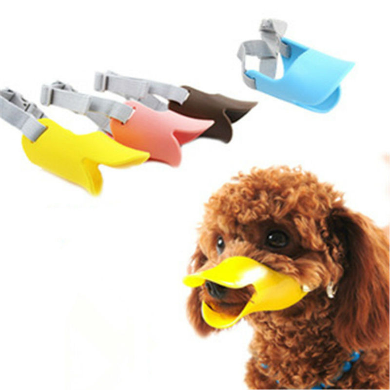 Novelty Design Dog Muzzle Silicone Adjustable Dog Mouth Muzzle For Dogs Cute Duck Anti-bite Dog Bark Stop Supply