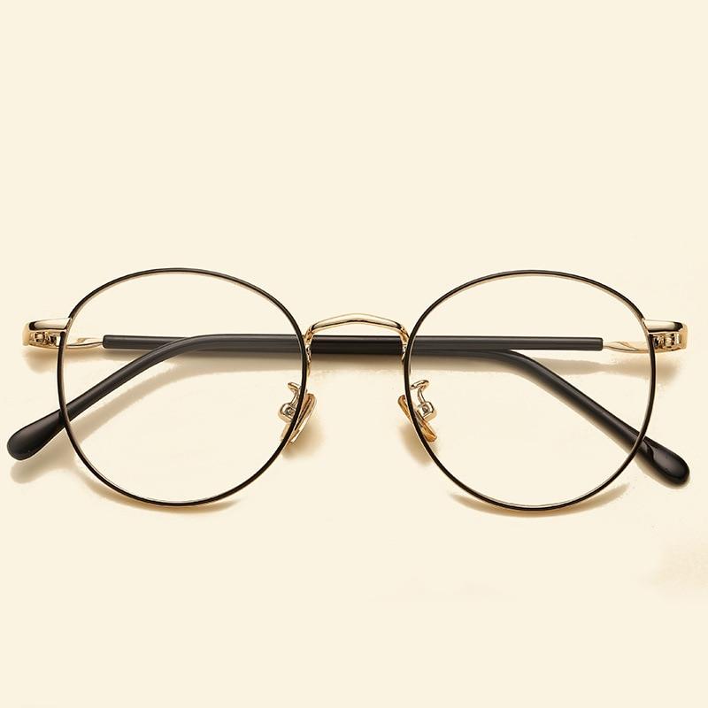 Vintage Runde Glas-rahmen Elegante Metall Brillen Frauen Männer Klar ...