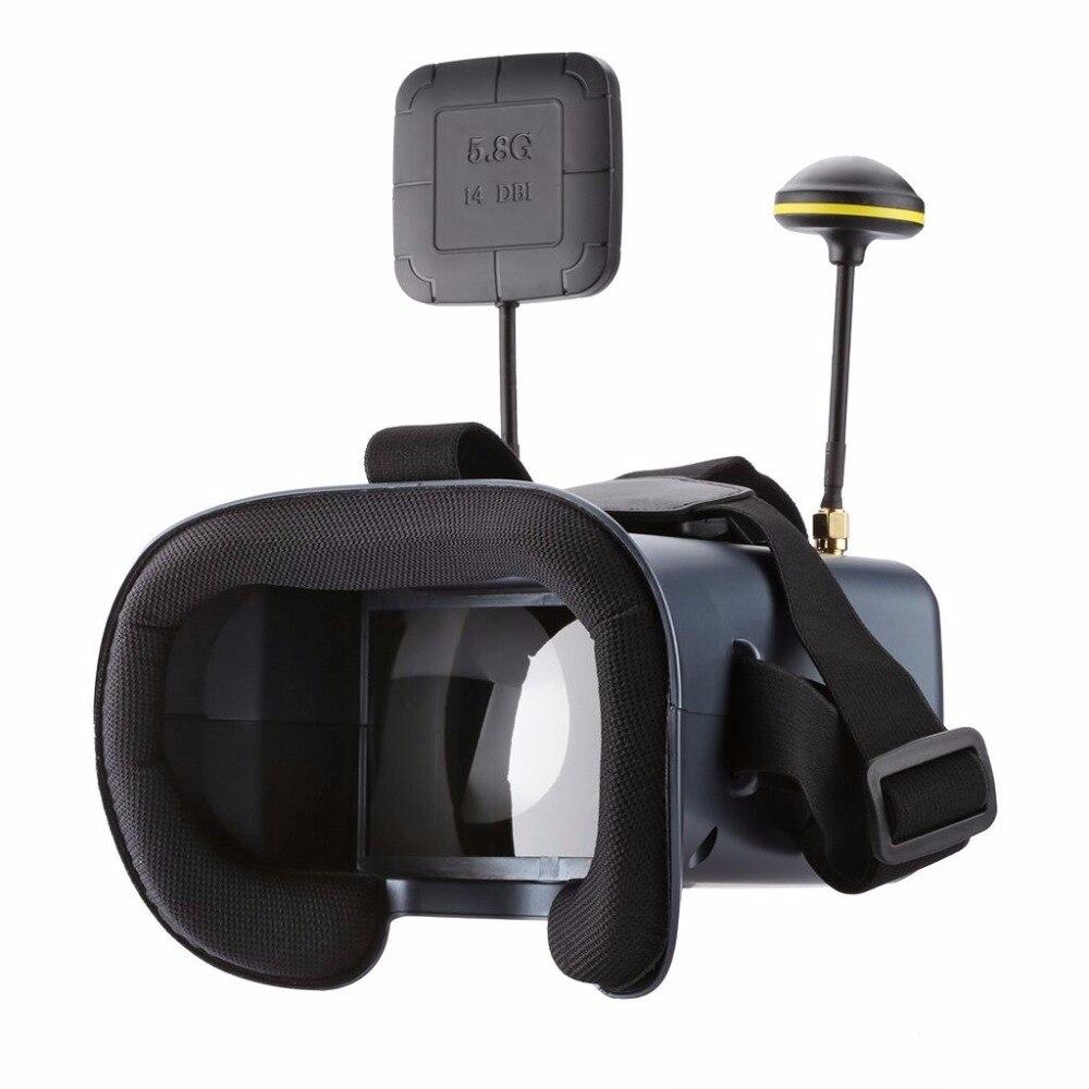008D 5.8G 40CH 2000mA batterie intégrée DVR diversité FPV lunettes pour FPV course Drone quadrirotor 4.3 pouces 480*272 diversité Vide