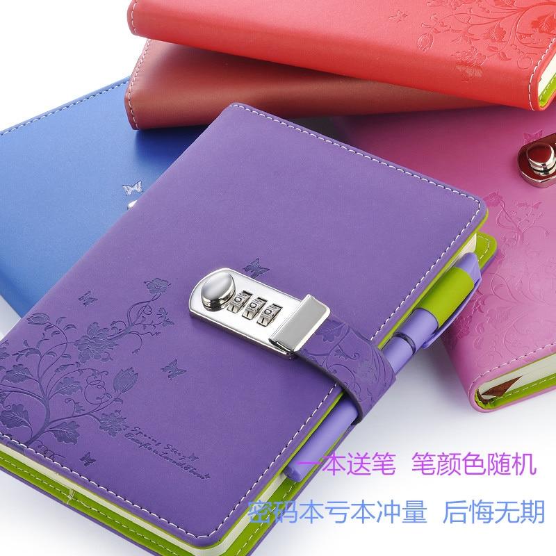 Noul notebook din piele A5 Jurnal personal cu cod de blocare Personal - Blocnotesuri și registre - Fotografie 5