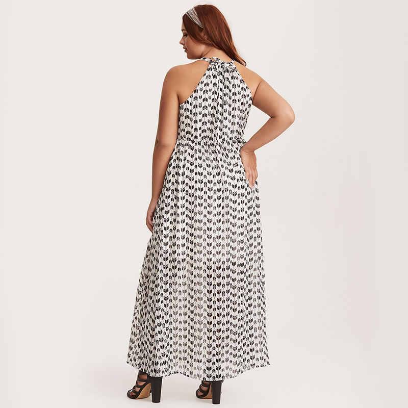 Wipalo женское платье с круглым вырезом без рукавов с эластичной резинкой на талии шифоновое свободное расклешенное Макси длинное платье
