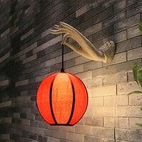 Retro Chinese wall light living room teahouse corridor courtyard balcony cafe restaurant decorative art lamp wall sconce bra