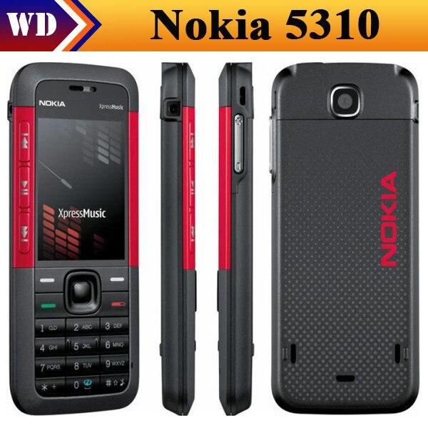 Цена за Мобильный телефон Nokia, разблокированный 5310 XpressMusic красный / черный