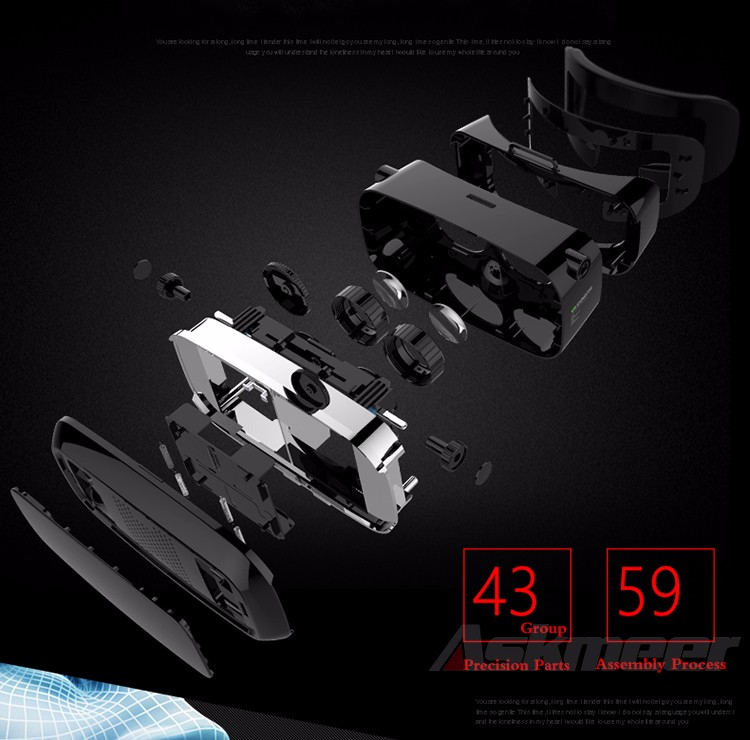 VR Shinecon VR Virtual Reality 3D Glasses Headband Cardboard Headmount Mobile 3D Movie Games for iPhoneSamsung 4.7-6 Smartphone (6)