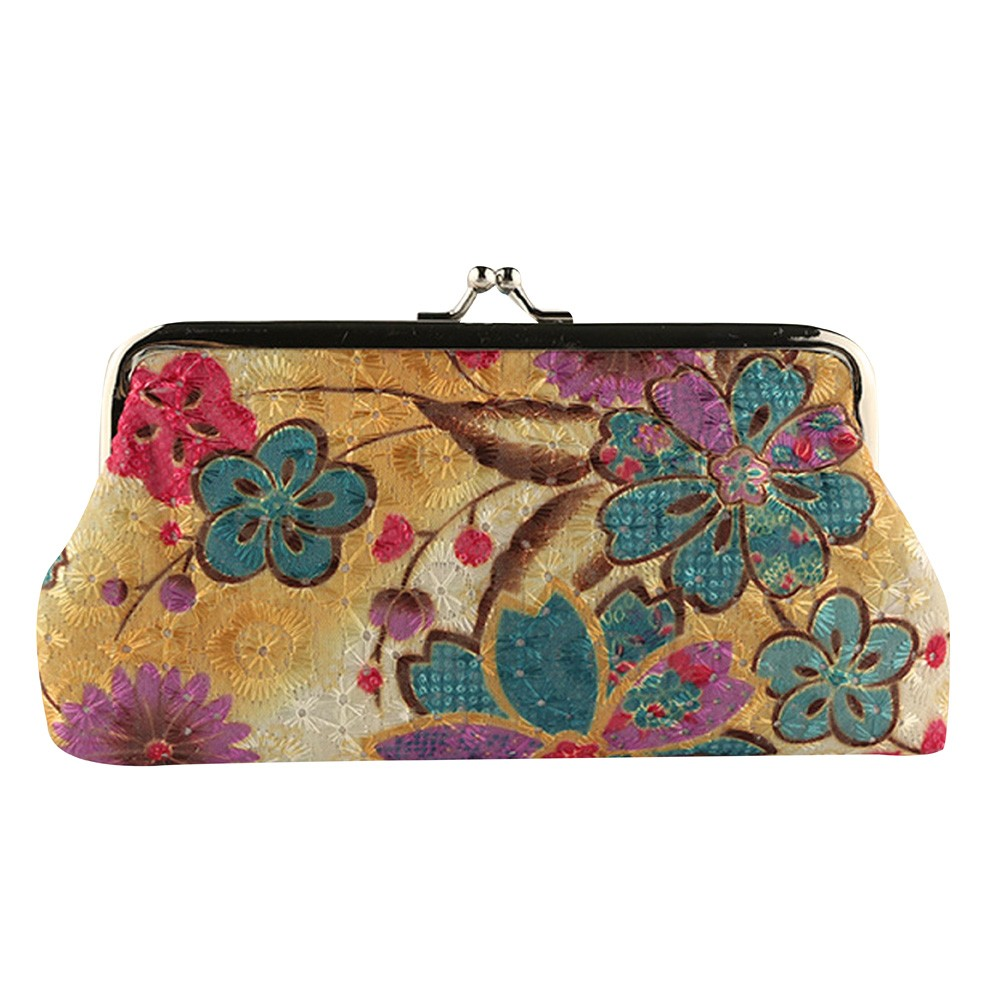Women Coin Purse Lady Retro Vintage Flower Small Wallet Hasp Purse Clutch Bag High Quality monedero mujer *00