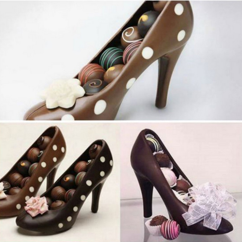 Pastry Shoes 2016 >> 3D Candy High Heel Shoe Shape Chocolate Mold Sugar Paste Cake Decoration Mould-in Baking ...