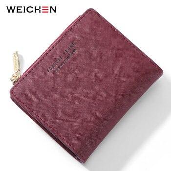 c9ff486b3 Weichen marca nuevo diseñador del remache mujeres cartera larga gran  capacidad Carteras corchete titular de la tarjeta cerrojo hebilla de  embrague de las ...