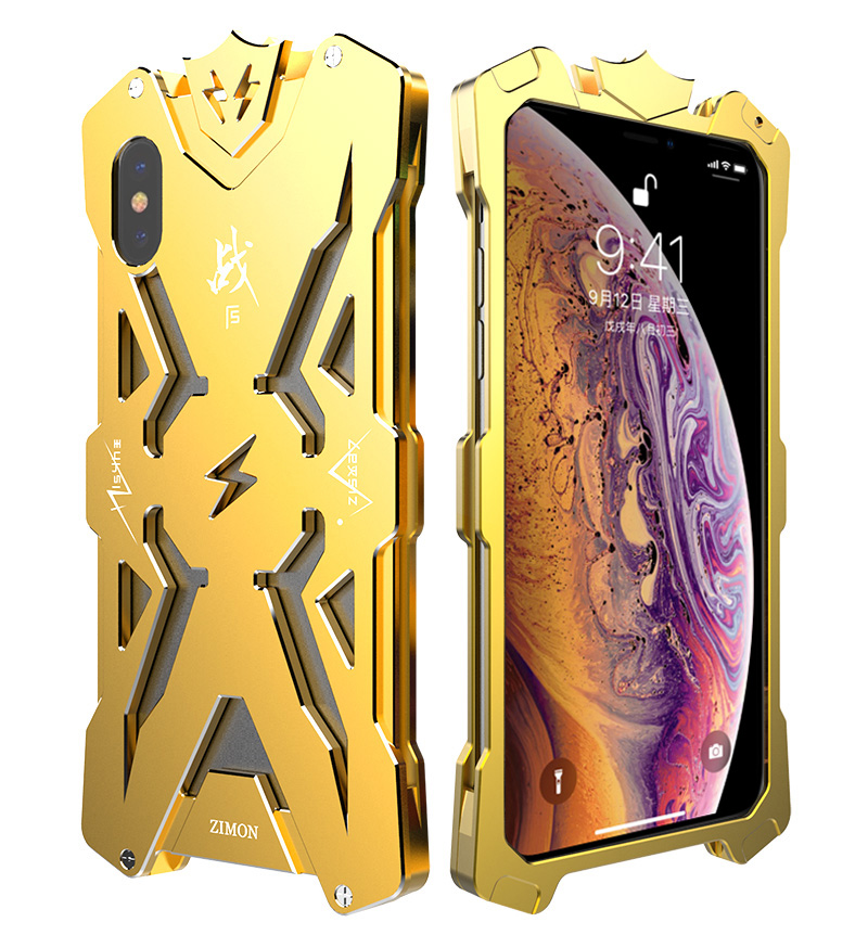 For iPhone X  XR XS Max case Cover armor Metal Aluminum  for iPhone x xr xs max Bumper Coque Fundas phone case  Shockproof