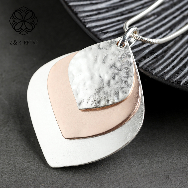 Trendy Leaf Pendant Long Chain Necklace For Women Plant Fashion Female Gift Clothes Accessories Collier Femme Suspension Chokers