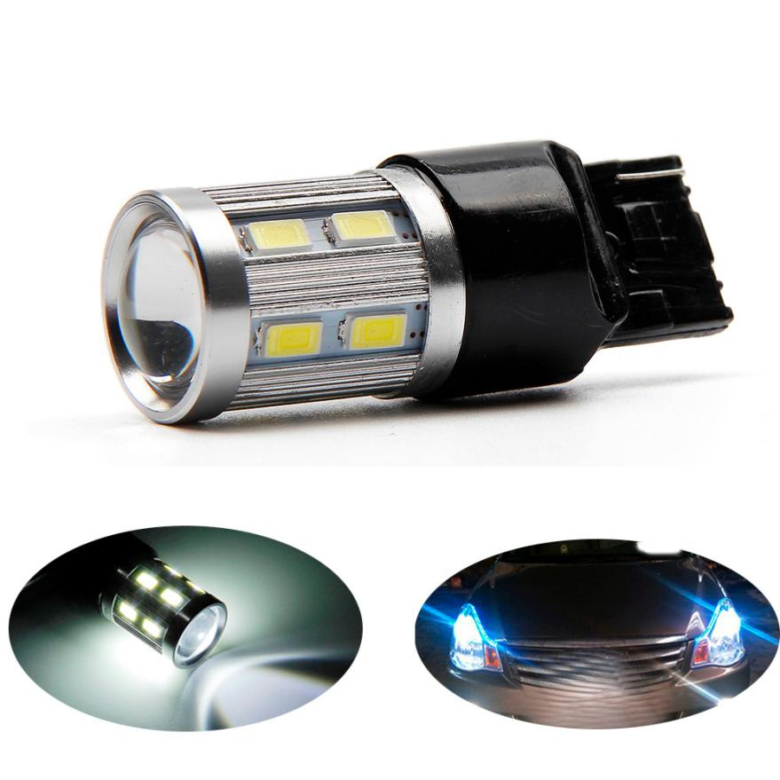 Car-styling 7443 7440 Car LED bulbs 12 SMD 5730 Xenon White W21 / 5W high power lamp 801 ...