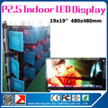 10pcs P2.5 rental led panel 2.3sqm indoor led video wall high resolution led display for stage wall football game display