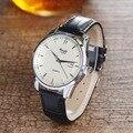 Новое Прибытие Марка Кварцевые Часы Мужчины Классический Кожаный Ремешок Бизнес Часы Высокого Качества Крокодил Pattern Кварцевые Часы