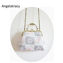 Angelatracy 2018 French Style Lace Handbag Women White Handbag Flower Embroidery Bag Handmade Women White Bag Floral Tote Wooden цены