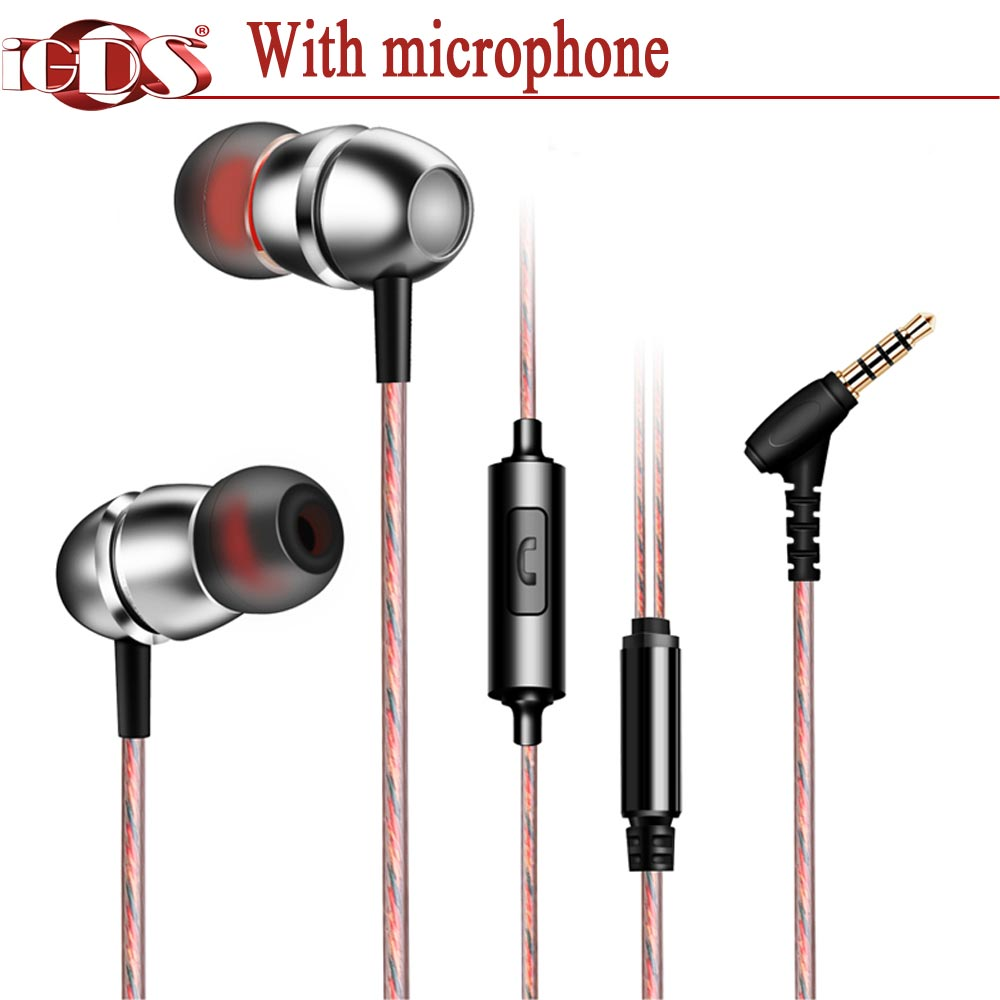 Original iGDS G10 In-Ear earphones  special metal bass sound With microphone for all phone 2pcs godox cells ii 1 8000s wireless transceiver trigger kit for canon eos camera speedlite and studio flashes