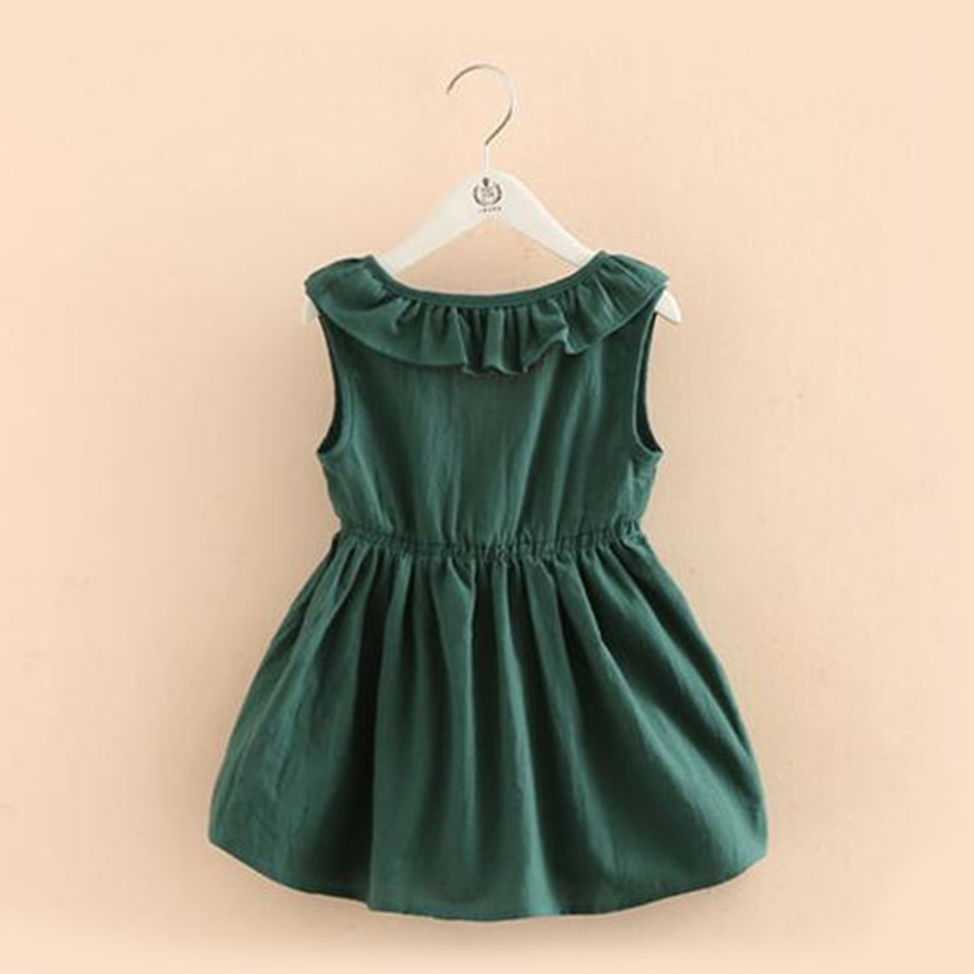 be6dd3ceeff Casual baby Girls Dress Ruffles tutu dress vintage emerald party wedding vestidos  toddler kids clothing summer 2t-7. 1 order
