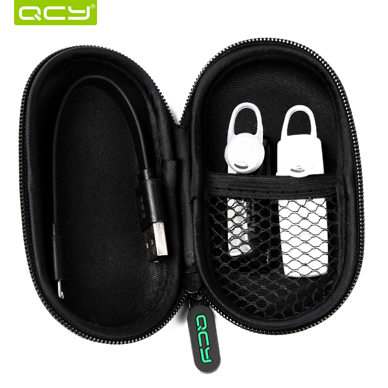 QCY QY19 Sports Bluetooth earphone fast charge stereo wireless headset with mic and portable storage box for Iphone,Xiaomi 6