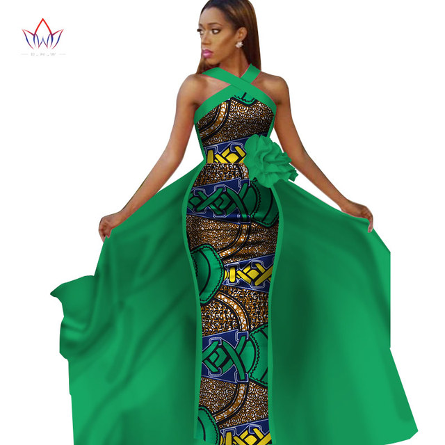 African Dresses For Women Plus Size Dashiki African Sleeveles