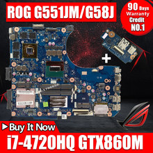 New USB board+ i7-4720HQ GTX860M Mainboard For ASUS G551J N551JX G551JK N551JK G551JM G58J N551JQ N551JM laptop motherboard(China)