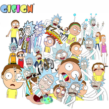 100Pcs/Pack Cartoon Rick and Morty  Anime Stickers On The Laptop Kids Stickers Toys For Car Motorcycle Skate Suitcase Scrapbook 35pcs rick and morty vinyl stickers decal for window car laptop