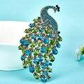 Brilhante Bem Pavão Broches de Cristal Para As Mulheres acessórios Colar Colar Feminino Estrelas Violetta Broche Roxo Melhor Hijab Broche