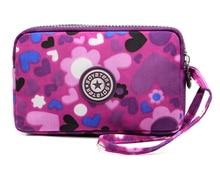Mode frauen Nylon Langen abschnitt Kupplung brieftasche frauen geldbörse Drei schichten brieftasche Marke taschen Feminina Bolsas Estojo Tasche