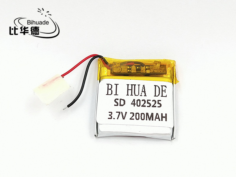 Liter energy battery 3.7V lithium polymer battery <font><b>402525</b></font> 200MAH Bluetooth headset speakers steelmate small toys image