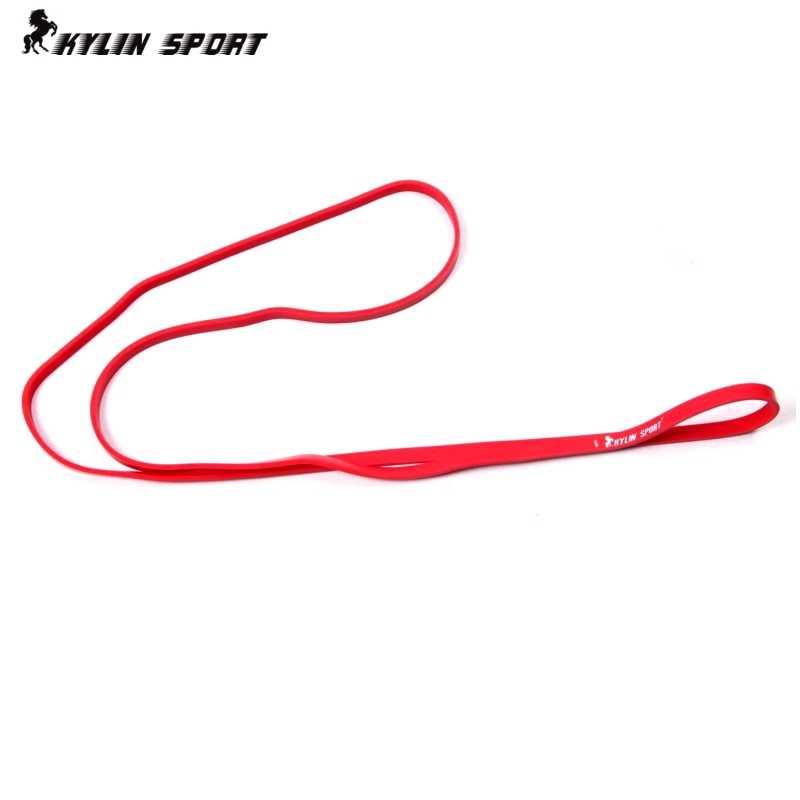 """Naturalnego lateksu 41 """"wytrzymałość zespoły oporu pętli moc podnoszenia Fitness podciągnąć wzmocnić mięśnie 15-25Lbs czerwony"""