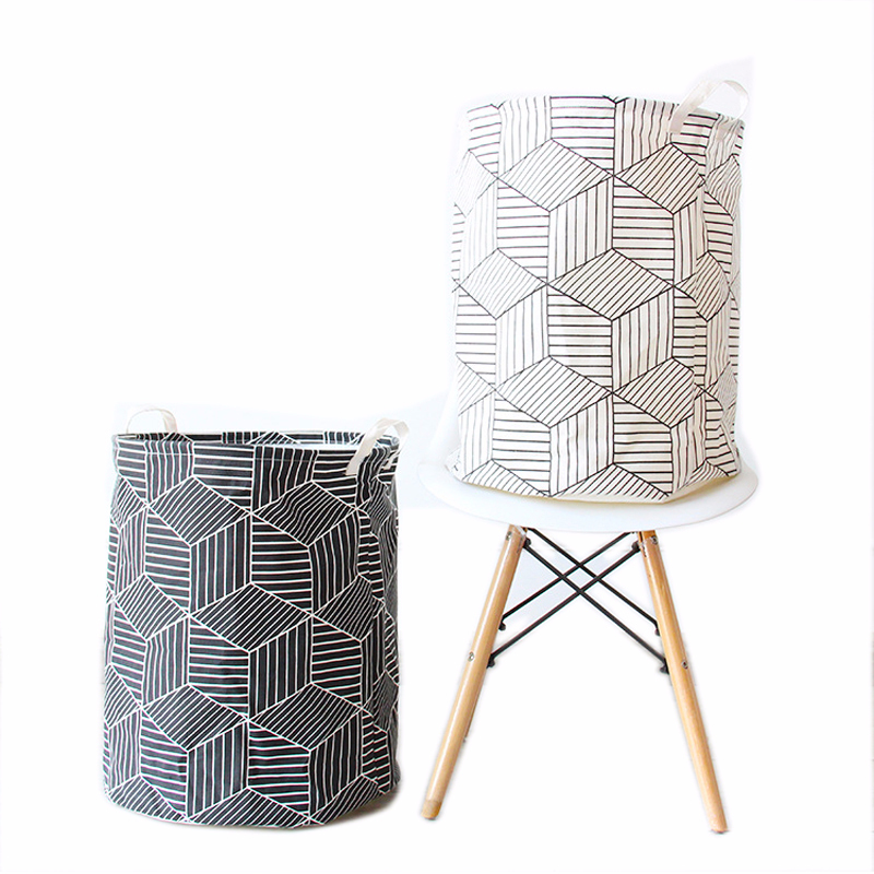 Round Laundry Hampers Basket Collapsible Linen Canvas Storage Bucket For Bedroom Or Home Clothing Underwear Tie Socks Organizer