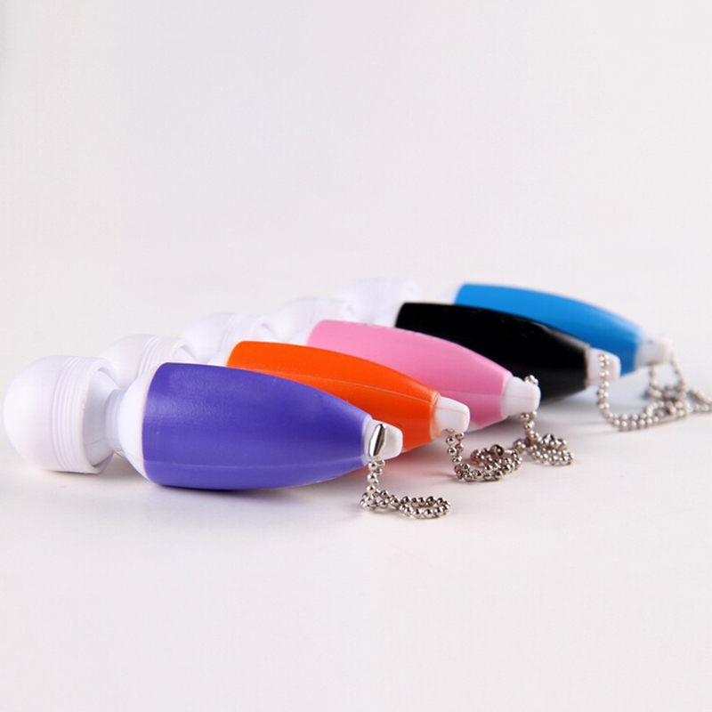 Tools & Accessories Creative 1pcs Random Color Mini Key-chain Massage Stick Tiny Stress Relief Electronic Ring Full Body Massager With Button Long Performance Life Toiletry Kits