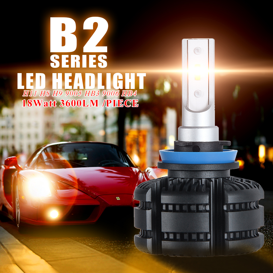Image 2 - CNSUNNYLIGHT Long Life LED H11 H8 Car Headlight Fanless 3600Lm/Bulb 9005 HB3 9006 HB4 White Yellow Light Foglamp Car Accessories-in Car Headlight Bulbs(LED) from Automobiles & Motorcycles