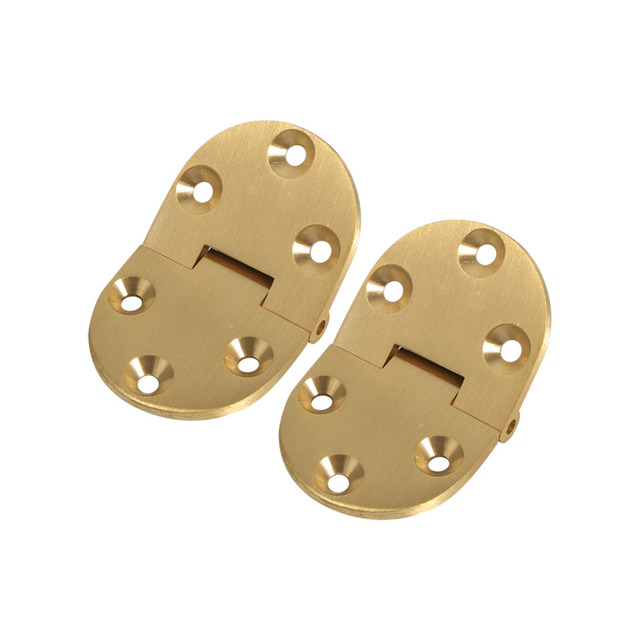 2pcs/set Brass Cabinet Folding Hinges Round Edge With Screws Jewelry Boxes  Small Hinge Furniture