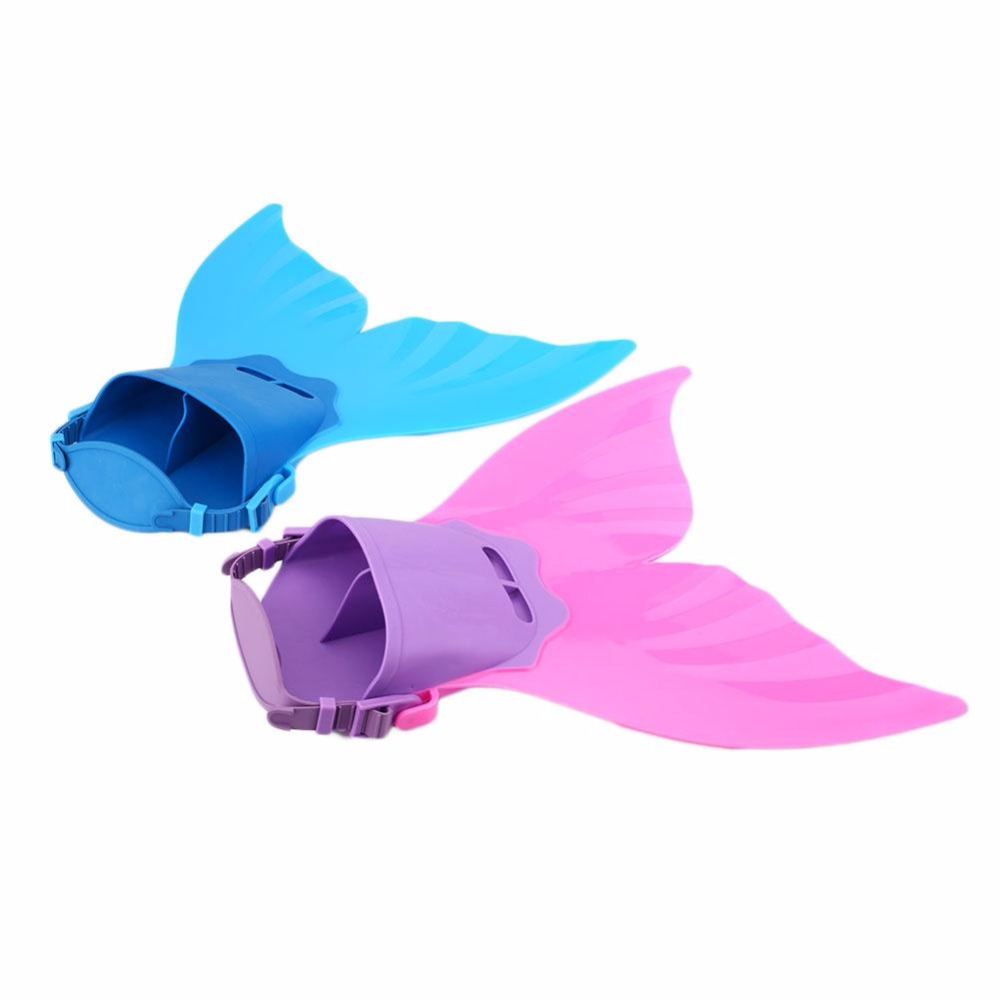 Children Swimmable Mermaid Tail Swim with Monofin Flippers Real Swimmable Mermaid Tail Fin Swimming Costume Props For Children