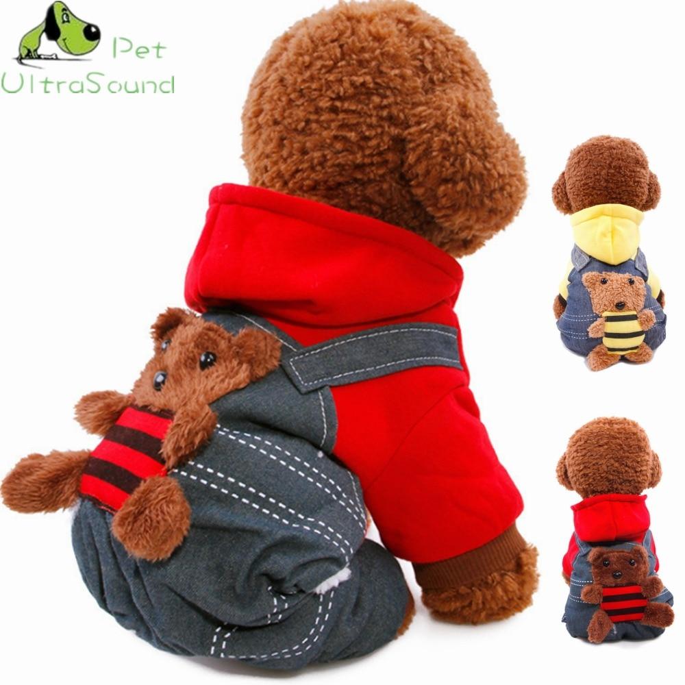 ULTRASOUND PET žiemos šiltų naminių šunų drabužiai gobtuvu - Naminių gyvūnėlių produktai