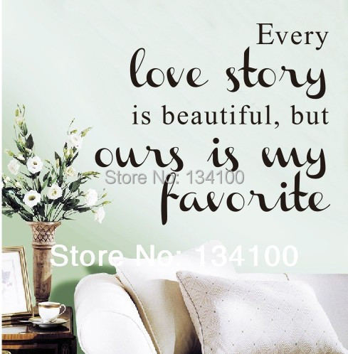 English Famous Saying Quotes Words Every Love Story Is