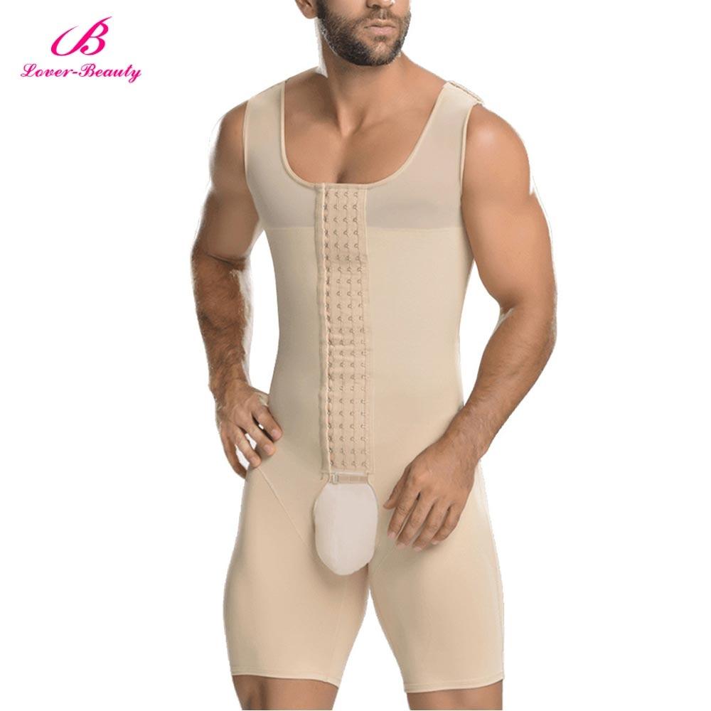 Men Waist Trainer Full Body Shaper Vest Abdomen Plus Size 6XL Steel Boned Bodysuit Open Crotch Slim Fit Tighten Underwear