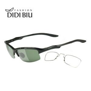 Image 1 - Spolaryzowane aluminiowe męskie okulary przeciwsłoneczne okulary wojskowe Clip On dostosuj krótkowzroczność okulary korekcyjne jazdy okulary przeciwsłoneczne HN1042
