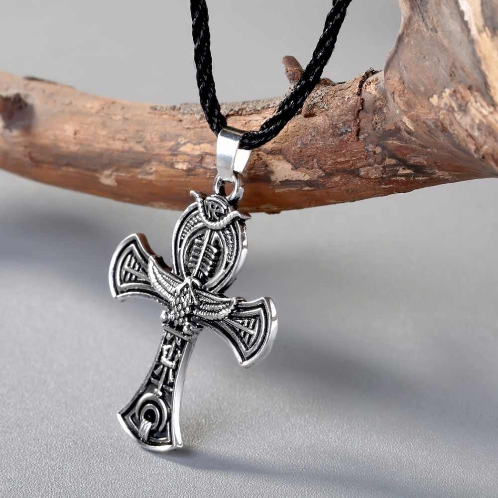 CHENGXUN Norse Viking Amulet Pendant Necklace Cross Celtic Irish Druid Pendant Necklace Men Jewelry
