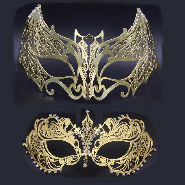 Phantom Silver Gold Batman Masquerade Couple Mask