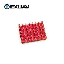 EXUAV 25*18*5mm liga de Alumínio Do dissipador de Calor usado para 5.8g imagem transmissor/ESC E-componente para RC drones de corrida peças acessórios