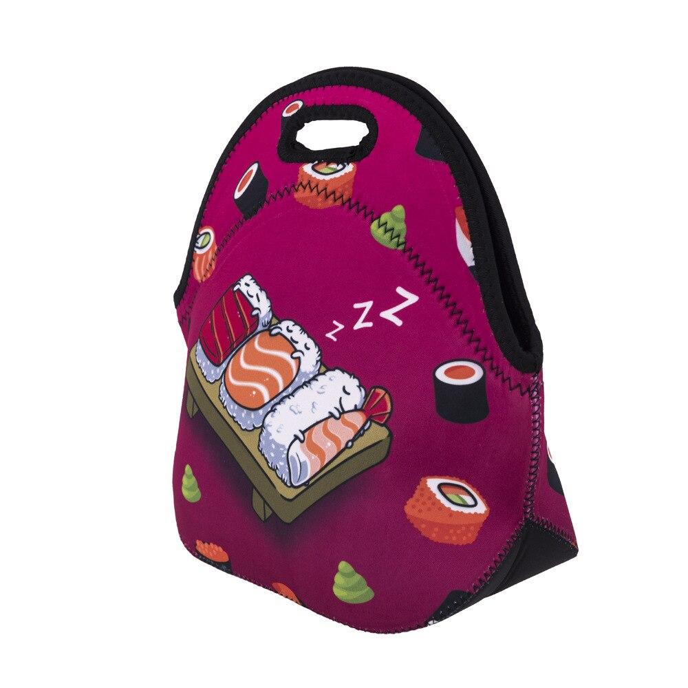 bolsa lancheiras almoço bolsa térmico Color : Striped Design