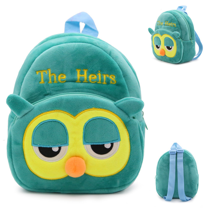 Baby Kids Cartoon Plush Children Backpack Rabbit Owl Bee Panda Strawberry Style Kindergarten Small Bag