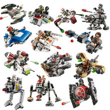 Star Wars Warship Spaceship Microfighters Fighter TIE ARC-170 Model Building Blocks Brick Figures Toys Compatible With Lego(China)
