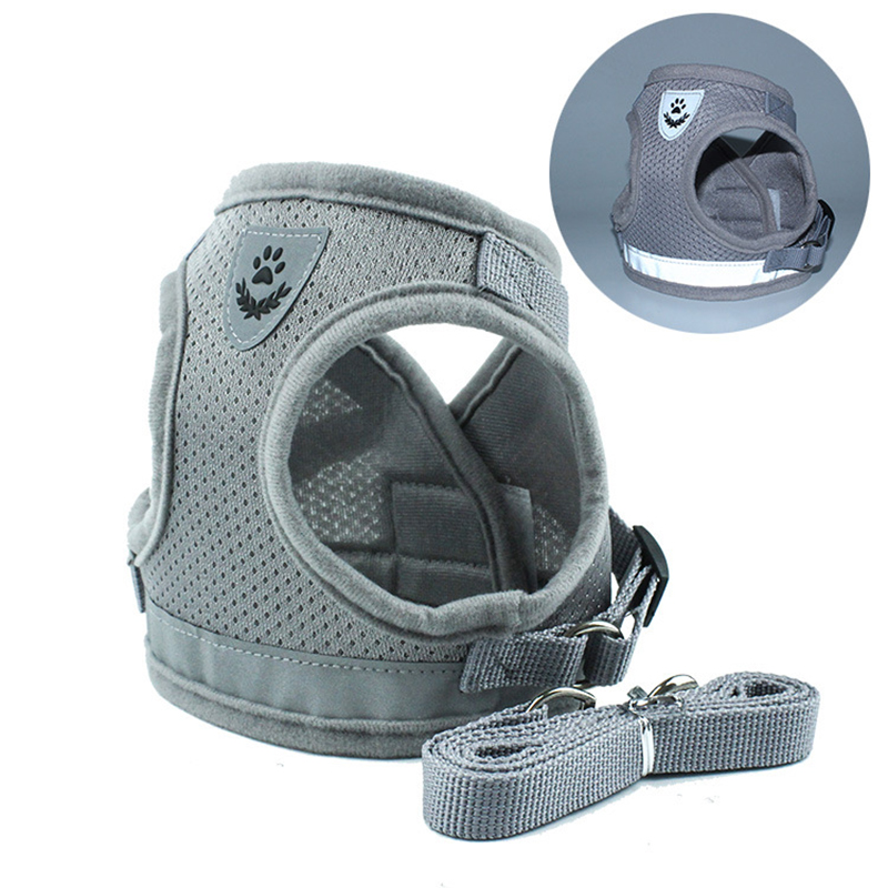 Eerlijk Vest Harness Leash Verstelbare Mesh Vest Hond Harnas Kraag Borstband Leash Harnassen Met Trekkabel Xs/s/ M/l/xl
