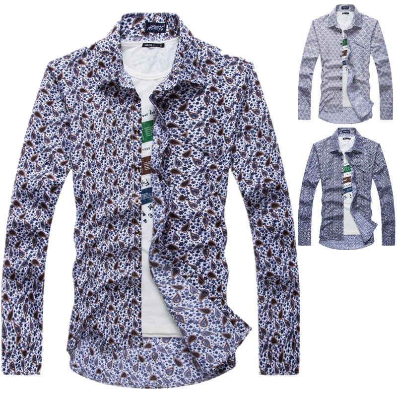 Aliexpress.com : Buy High Quality Floral Print Mens Tuxedo Shirts ...