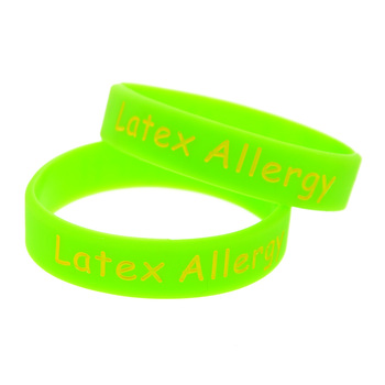 1PC Candy Color Alert Latex Allergy Silicone Wristband in Kid Size 2
