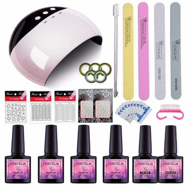 24W LED Nail Lamp Dryer Choose 4 Color Gel Nail Polish Nail Tools ...