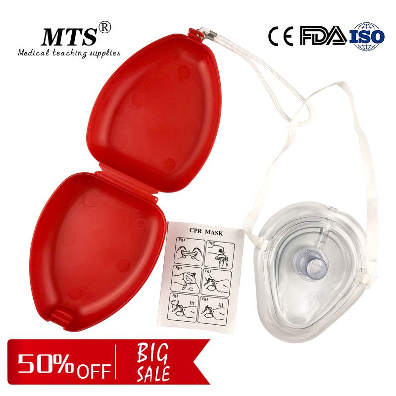 CPR Resuscitator Breathing Mask First Aid Masks Artificial Respiration Training Reuseable With One-way Valve Tools