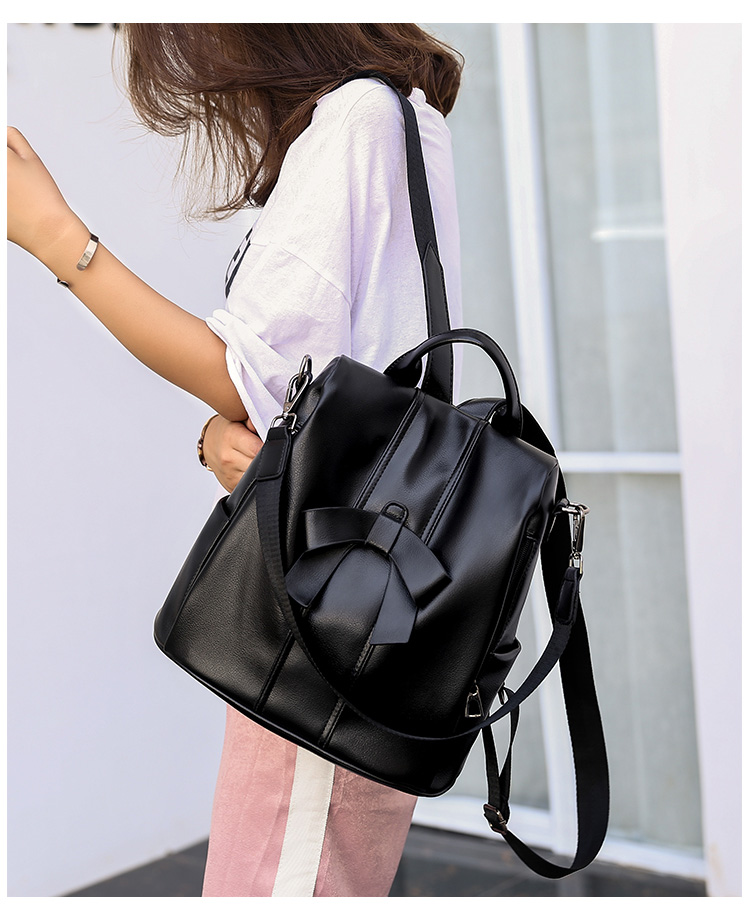 HTB1kzTEUSzqK1RjSZPxq6A4tVXaM - Leisure Women Backpack High Quality Leather Lady Anti Theft Shoulder Bags Lovely Girls School Bags Women Traveling Backpack