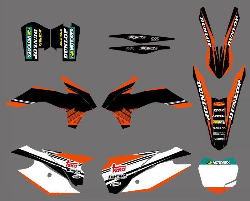 NEW STYLE TEAM GRAPHICS WITH MATCHING BACKGROUNDS FOR KTM SX XC SXF SXF XCW 125 150 200 250 300 350 450 500 2013-2015 романовы от царства до империи